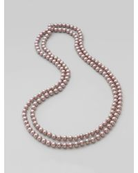 Majorica | Pink Nuage Round Pearl Necklace | Lyst