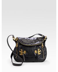 Marc By Marc Jacobs | Black Petal To The Metal - Natasha Flap Crossbody Bag | Lyst