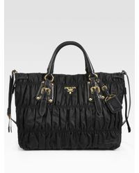 Prada | Black Tessuto Gaufre Tote Bag | Lyst