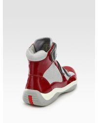 Prada | Red High-top Sport Sneakers for Men | Lyst