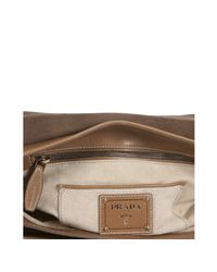 Prada | Brown Cinnamon City Calf Leather Crossbody Bag | Lyst