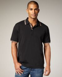 Robert Graham | Black Embroidered Polo for Men | Lyst