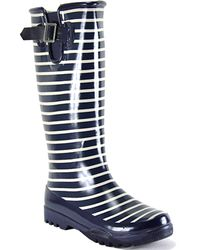 Sperry Top-Sider - Blue Pelican - Navy Striped Rubber Rain Boot - Lyst