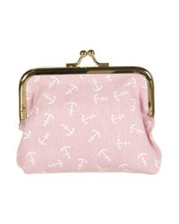 TOPSHOP | Pink Navy Anchor Clip Frame Purse | Lyst