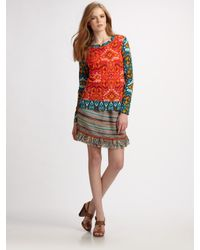 Tory Burch | Multicolor Sabrina Printed Cotton Top | Lyst