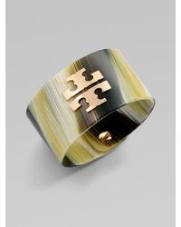 Tory Burch | Metallic Wide Resin Cuff | Lyst