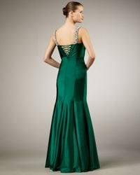 Alberto Makali   Green Bejeweled-strap Gown   Lyst