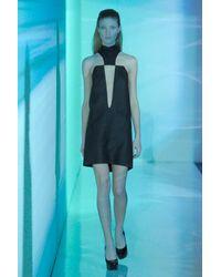 Anthony Vaccarello - Black Deep-v Dress - Lyst