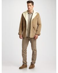 A.P.C. - Natural Canadienne Corduroy Jacket for Men - Lyst