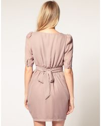 ASOS Collection - Pink Asos Petite Tulip Dress with Sleeves - Lyst
