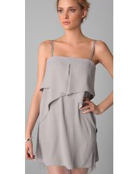 BCBGMAXAZRIA - Gray Fei Fei Strapless Dress - Lyst