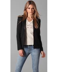 Elizabeth and James | Black Sammy Tux Blazer with Leather Lapel | Lyst