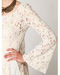 Free People - White Nicole Embellished Lace - Lyst