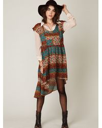 Free People | Multicolor Coastal Tectonics Dress | Lyst
