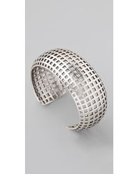 Giles & Brother - Metallic Rounded Graph Silver Oxide Cuff - Lyst