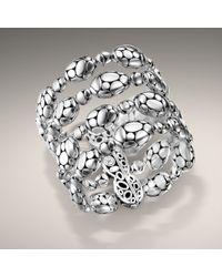 John Hardy - Metallic Wide Bead Bracelet - Lyst