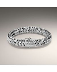 John Hardy | Metallic Large Rhodium Plated Bracelet | Lyst