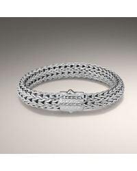 John Hardy - Metallic Large Rhodium Plated Bracelet - Lyst