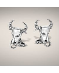 John Hardy | Metallic Bull Head Cufflinks for Men | Lyst
