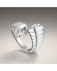 John Hardy - Metallic Small Overlap Ring - Lyst