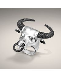 John Hardy | Black Bull Head Ring for Men | Lyst