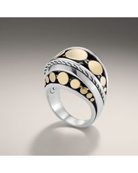 John Hardy | Metallic Dome Ring | Lyst