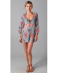 Joie | Blue A La Plage Luka Tunic Cover Up | Lyst