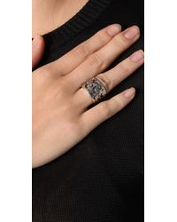 Low Luv by Erin Wasson - Metallic Cigar Band Ring - Lyst