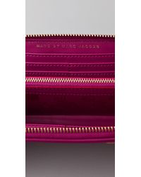 Marc By Marc Jacobs - Purple Preppy Nylon Slim Zip Wallet - Lyst