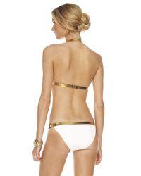 Michael Kors | White Leather-contrast Bikini | Lyst