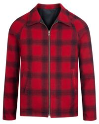 Nudie Jeans | Red Check Kalle Reversible Jacket for Men | Lyst