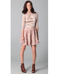 Obakki - Pink Short Flounce Skirt - Lyst
