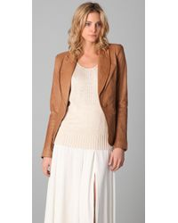 Rachel Zoe | Brown Sullivan Leather Blazer | Lyst