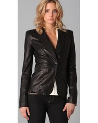 Rachel Zoe | Black Sullivan Leather Jacket | Lyst