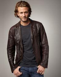 Royal Underground | Brown Snake-embossed Leather Blazer for Men | Lyst