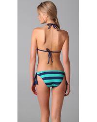 Splendid - Blue Marcel Stripe Reversible Bikini Top - Lyst