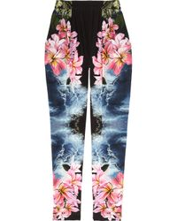 Stella McCartney | Multicolor Hawaiian-print Silk Pants | Lyst