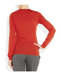 Stella McCartney | Red Fleece Wool Sweater | Lyst
