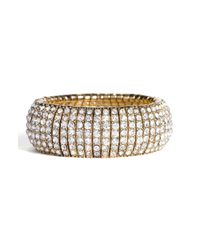 Tasha | Metallic Crystal Stretch Bracelet | Lyst