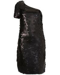 TOPSHOP - Black Big Sequin One Shoulder Dress By Dress Up - Lyst