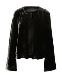 TOPSHOP | Black Velvet Jacket  | Lyst