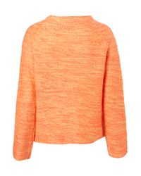 TOPSHOP - Orange Knitted Fluro Mix Sweater - Lyst