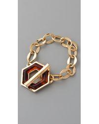 Tory Burch | Metallic Hexagon Toggle Bracelet | Lyst