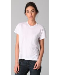 Vince - White Relaxed Short Sleeve Tee - Lyst