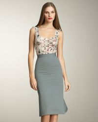 Zac Posen - Blue Pleated Faille Skirt - Lyst