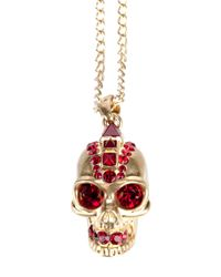 Alexander McQueen | Metallic Skull Necklace | Lyst
