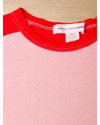Comme des Garçons - Pink Comme Des Garcons Shirt Mens Shoulder Panel Jersey T-shirt for Men - Lyst