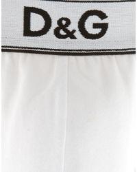 Dolce & Gabbana | White D&g 3-pack Trunks for Men | Lyst