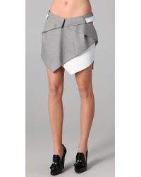 Dion Lee | Gray Intersection Draped Skirt | Lyst