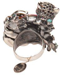 Iosselliani - Metallic Panther Cocktail Ring - Lyst